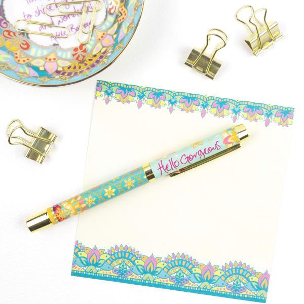 Hello Gorgeous - Boxed Gift Pen with Indigo (Purple) Ink