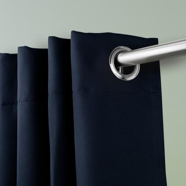 Room Darkening Curtain 108 inch Height - 1 Panel - Size: 120Wx108H - Dark Blue