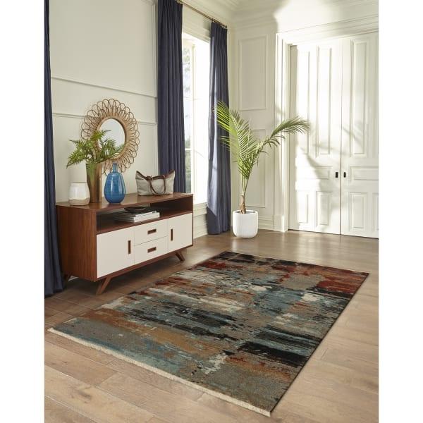 Abstract Indoor Rug Multi 5'3