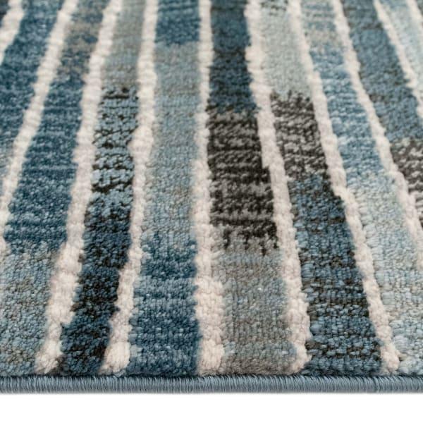 Stripe Indoor Rug Blue 5'3