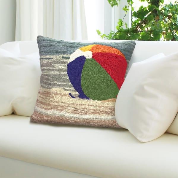 Life's A Beach Sand Outdoor Pillow