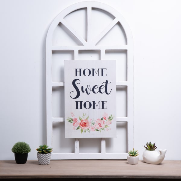 Wooden HOME SWEET HOME Word Sign Wall Decor