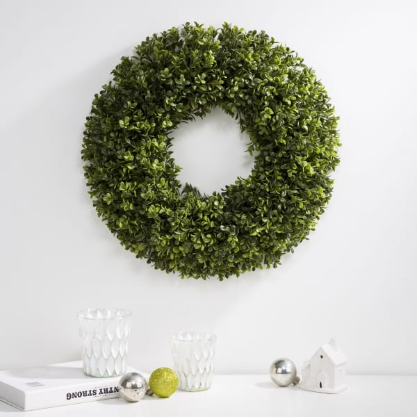 Artificial Boxwood Wreath