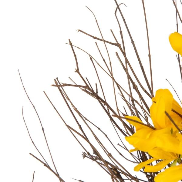 Hues of Yellow Artificial Forsythia Wreath