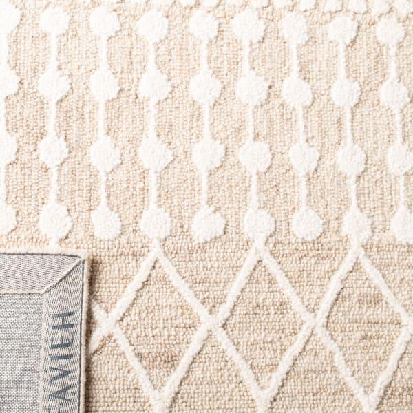 Tan Wool Rug 6' x 6'