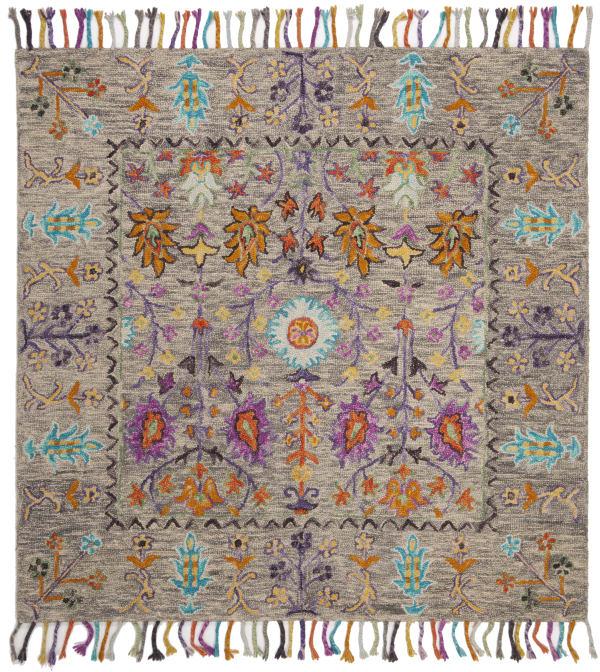 Gray Wool Rug