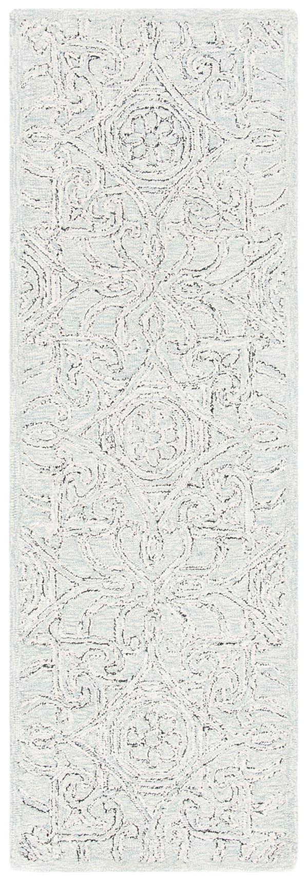 Essence Gray Wool Rug 2'5
