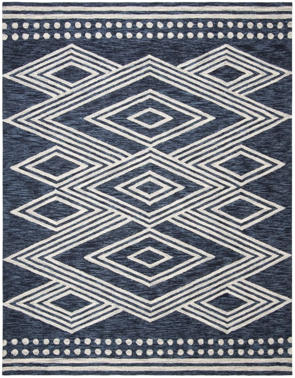 Essence Blue Wool Rug 6' x 9'