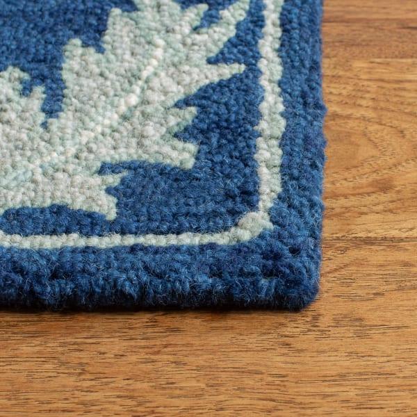 Essence Blue Wool Rug 5' Round