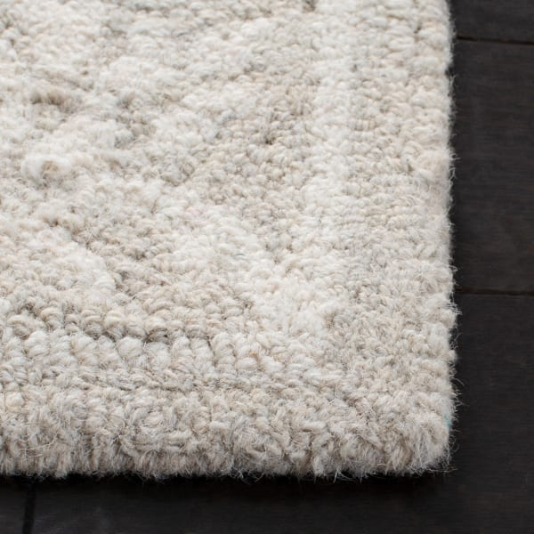 Silver Wool Rug 5' Round