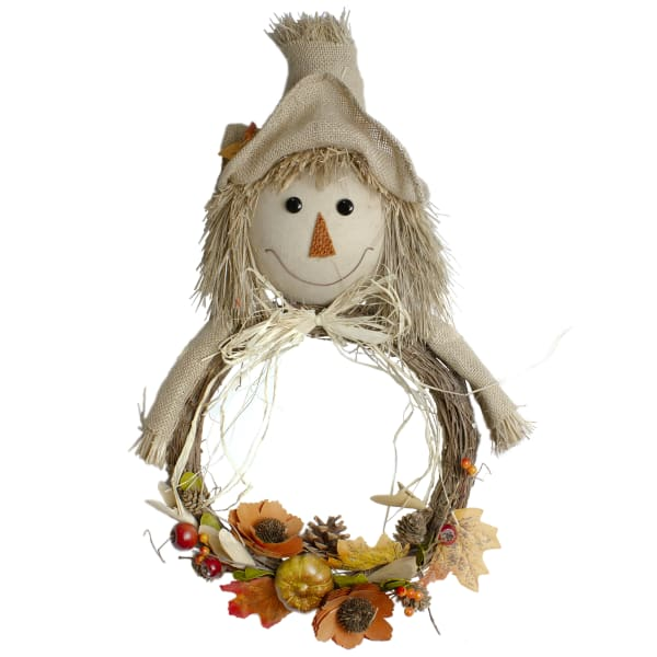 Beige and Orange Fall Harvest Scarecrow Wall Decor