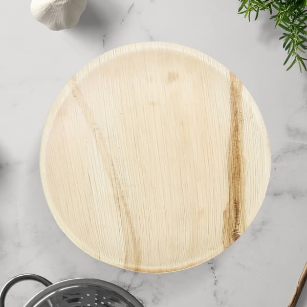 Indra Disposable Palm Leaf Plate 10