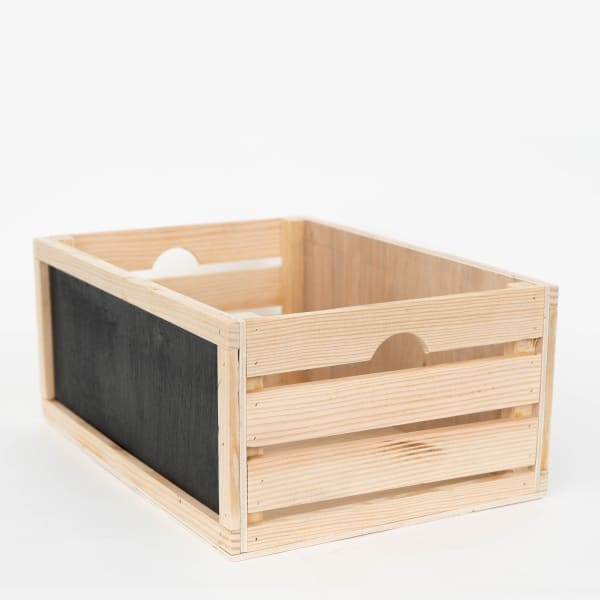 Rustic Wood Crate Nested Chalkboard Sides (Set of 3)
