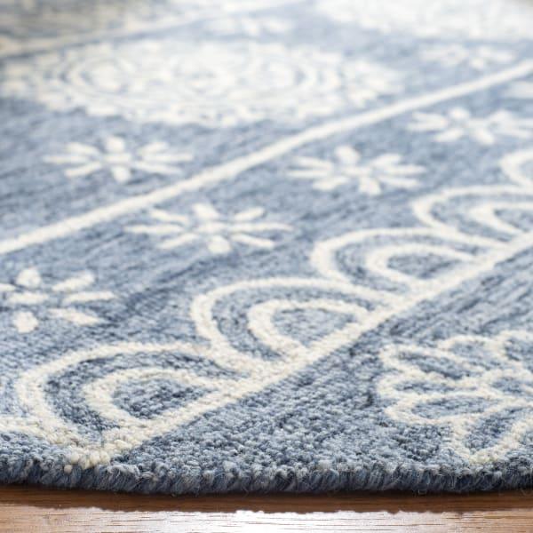 Blue Wool Rug 5' Round