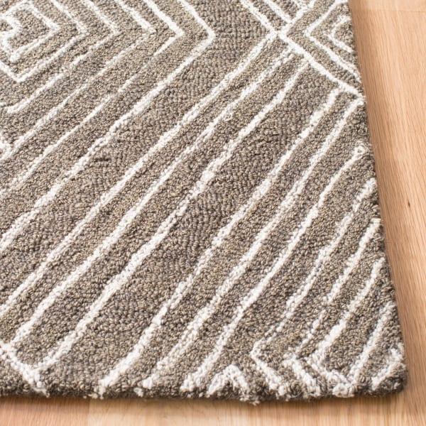 Gray Wool Rug 2'25