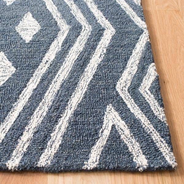 Blue Wool Rug 2'5