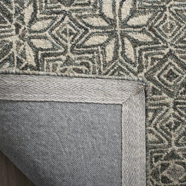 Essence Blue Wool Round Rug 5'