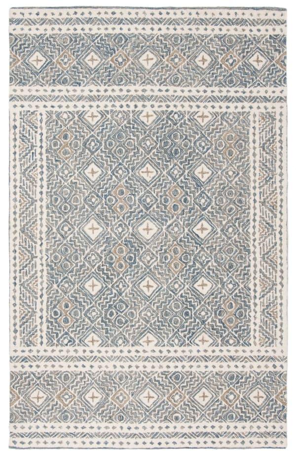 Essence Blue Wool Rug 5' x 8'