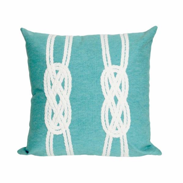 Double Knot Aqua Outdoor Pillow