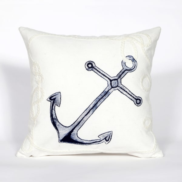 Marina White Outdoor Pillow