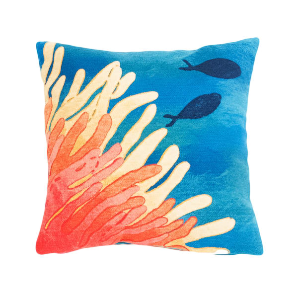 Reef & Fish Coral Outdoor Pillow