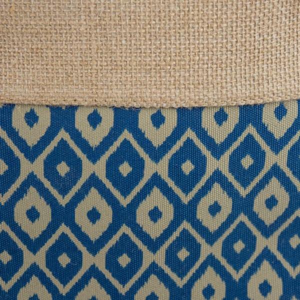 Burlap Bin Ikat Blue Rectangle Large 17.5x12x15