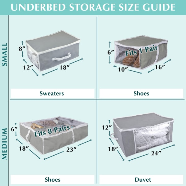 Gray Under-The-Bed Shoes Soft Storage (Set of 2)