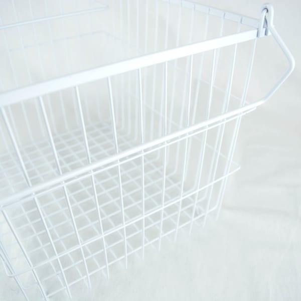 Metal Basket White Rectangle Large 13x10x11