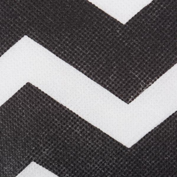 Nonwoven Polyester Cube Chevron Black Square 11x11x11 Set/2