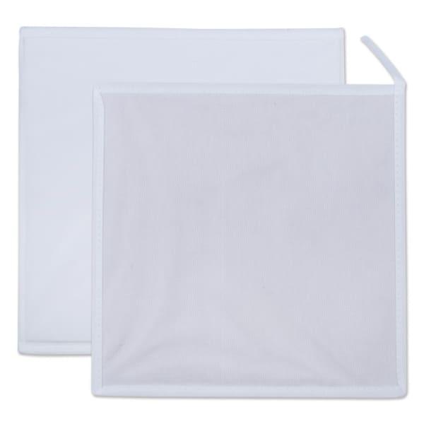 Nonwoven PP Cube Solid White Square 11x11x11 Set/4