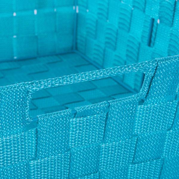 Nylon Bin Basketweave Teal Trapezoid 11x11x11 Set/2