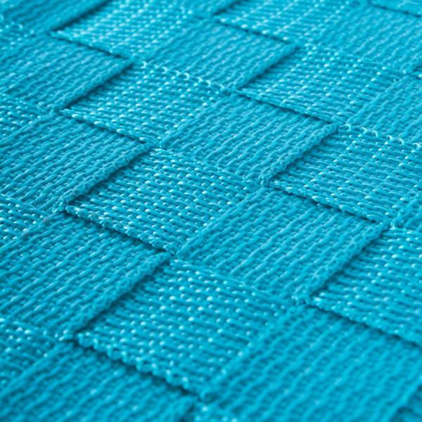 Nylon Bin Basketweave Teal Trapezoid 13x15x5 Set/2