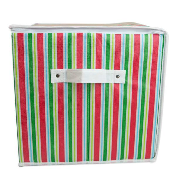 Ornament Storage Small Holiday Stripe