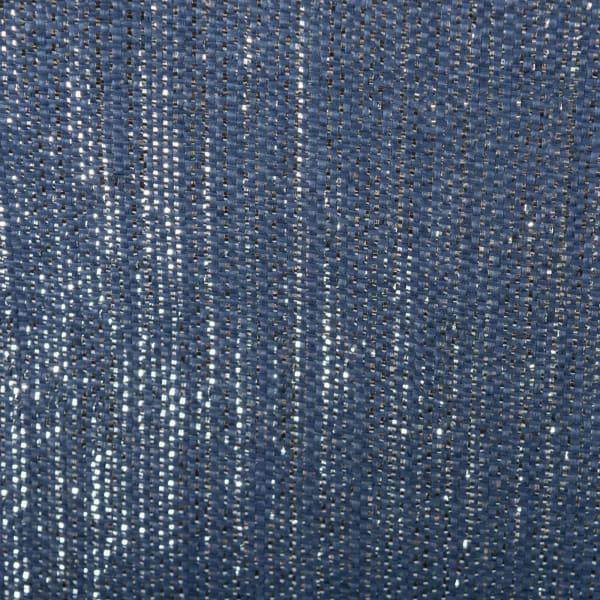 Paper Bin Lurex Nautical Blue/Silver Round Large 20x15x15