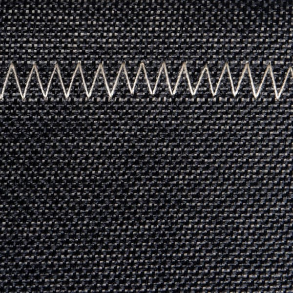 Poly Bin Zig-Zag Stitch Variegated Black Trapezoid 12x10x8 Set/2