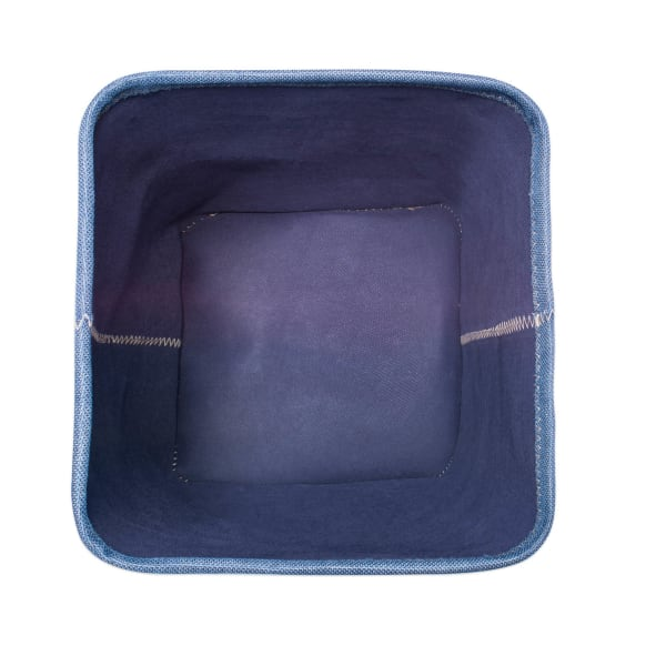 Poly Bin Zig-Zag Stitch Variegated Blue Trapezoid 11x11x11 Set/2