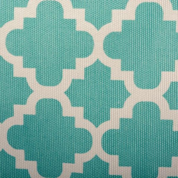 Polyester Bin Lattice Aqua Rectangle Large 17.5x12x15