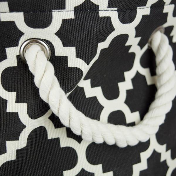 Polyester Bin Lattice Black Round Large 15x16x16