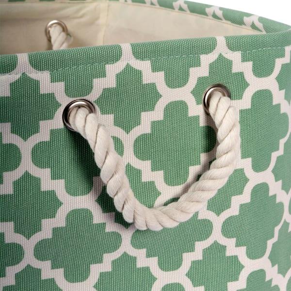 Polyester Bin Lattice Bright Green Rectangle Large 17.5x12x15