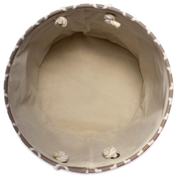 Polyester Bin Lattice Brown Round Large 16x16x15