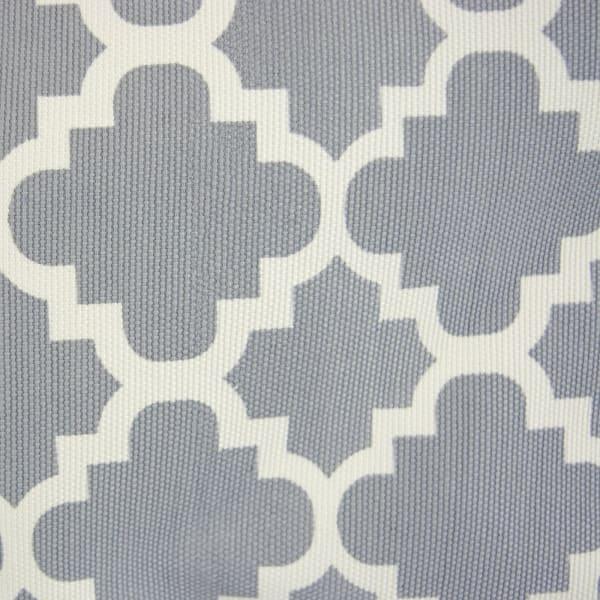Polyester Bin Lattice Gray Round Large 15x16x16