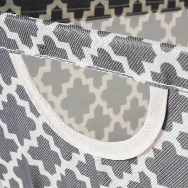 Polyester Bin Lattice Gray Trapezoid Small 12x9x8