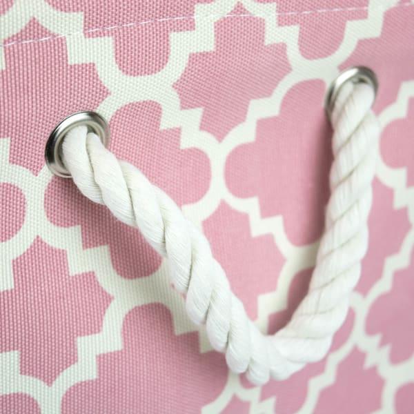 Polyester Bin Lattice Rose Rectangle Small 14x8x9