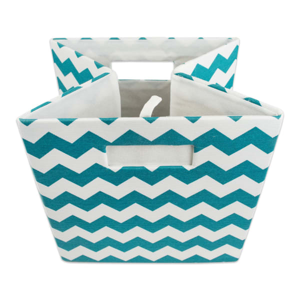 Polyester Cube Chevron Teal Square 11x11x11