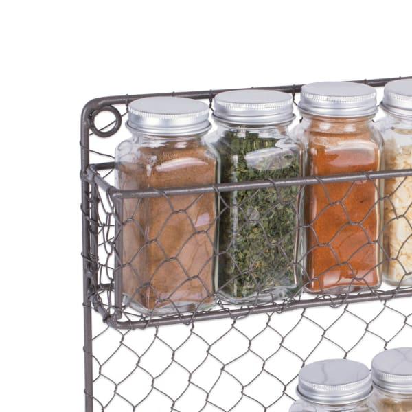 2 Tier Chicken Wire Spice Rack