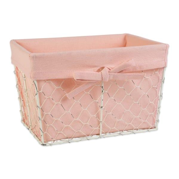 Assorted Antique White Chicken Wire Blush Liner Basket (Set of 3)
