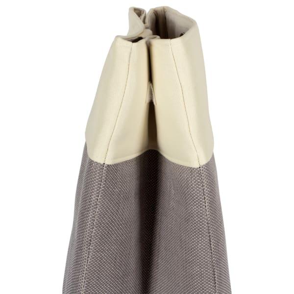Canvas Single Strap Laundry Bag Colorblock Gray 14x10x22