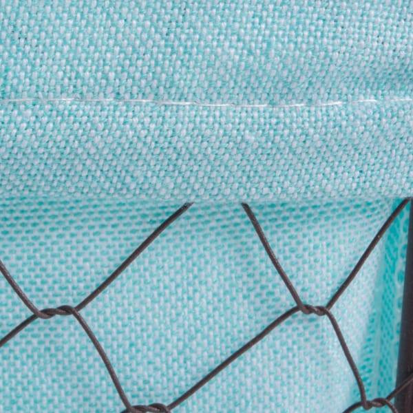 Chicken Wire Basket (Set of 5) Aqua