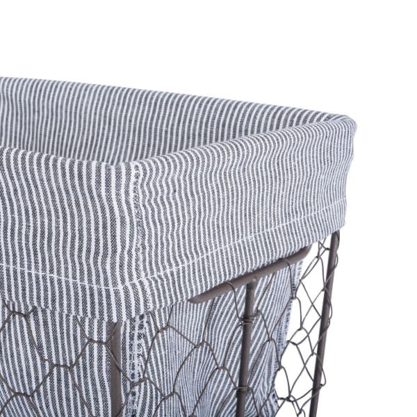 Chicken Wire Med Basket (Set of 2) Ticking