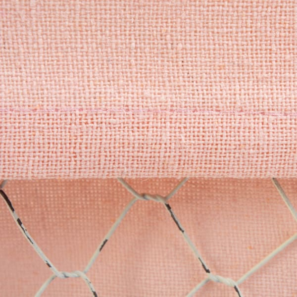 Antique White and Blush Chicken Wire Small Basket (Set of 3)